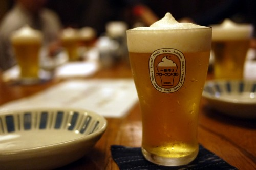 冷やしかつ丼+ビールミーティング