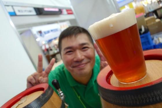 1杯目は福島路ビール!