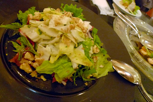 チコリと胡桃のローストサラダ