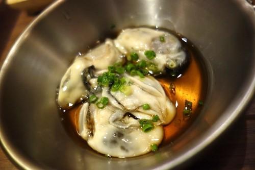 生牡蠣のモルトビネガー和え