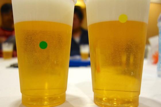 試飲用ビール PとQ