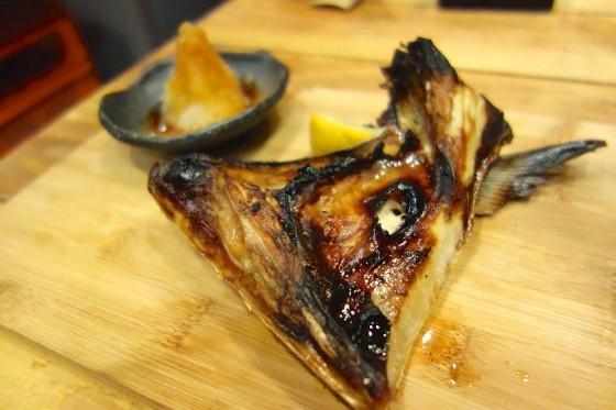 ブリカマ塩焼き(750円)