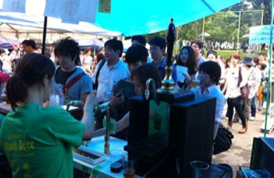 箕面ビール 周年祭の様子