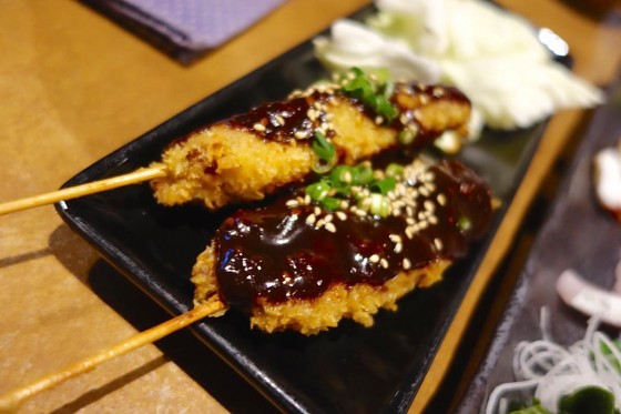 八丁味噌の串カツ