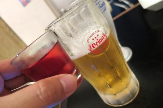 ビワミン×ビール