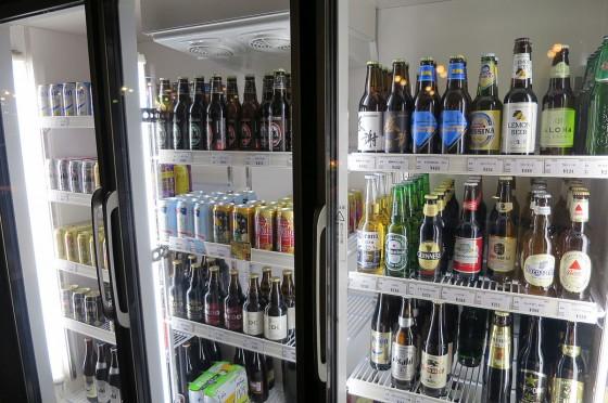 いろんなビールがあります。