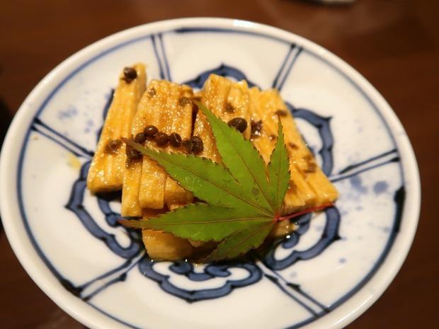 長芋有馬山椒たまり漬け(370円)
