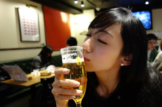 美人×麦酒 キス