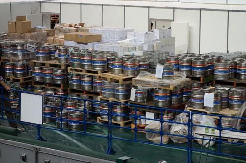 樽がたくさん