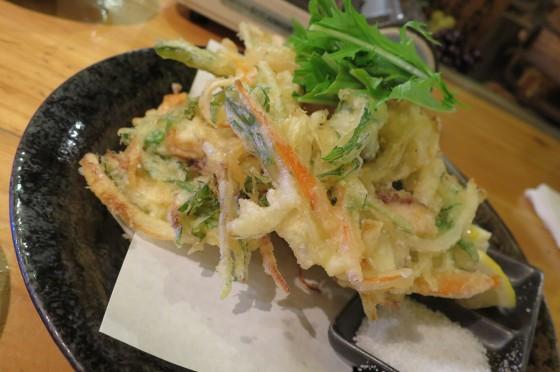 ソラマメと野菜のかき揚げ