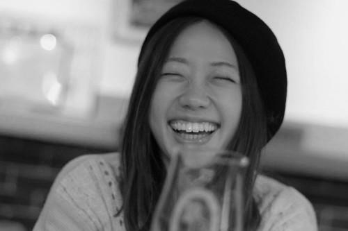 ビールで笑顔