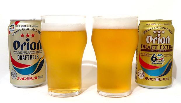 オリオンビール オリオンドラフト エクストラ飲み比べ