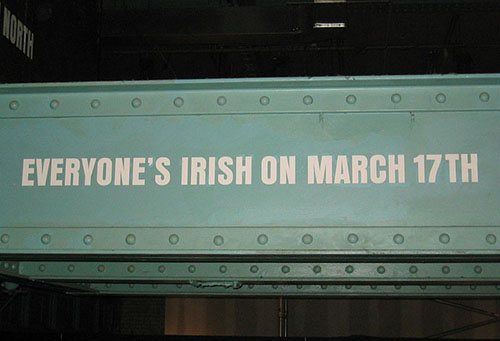 Guinness Storehouse St.Patrick's Day sign