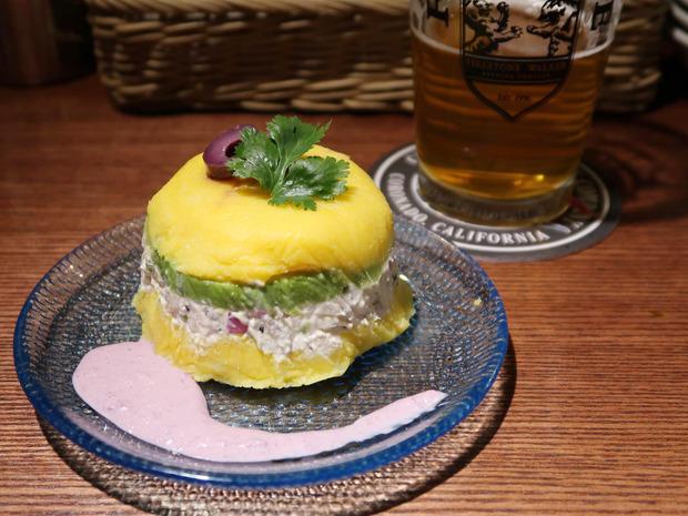 鶏ささみとアボカドのポテトサラダ(630円)