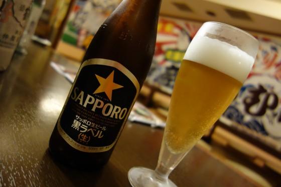 サッポロ黒ラベル 瓶(550円)