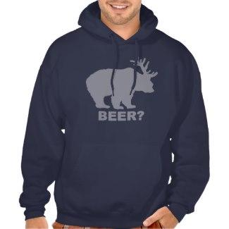 ビールか。 フード付きパーカ