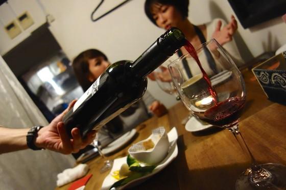 ワインをオーダー