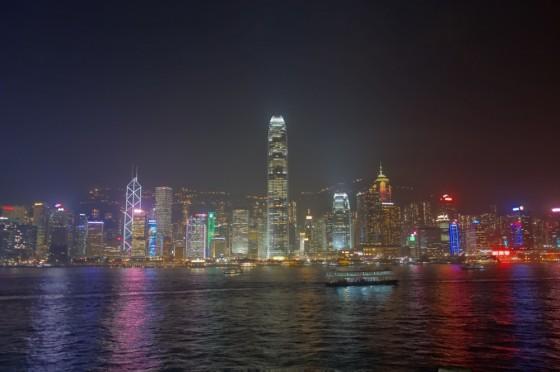 西九龍ウオーターフロント・プロムナードからの夜景