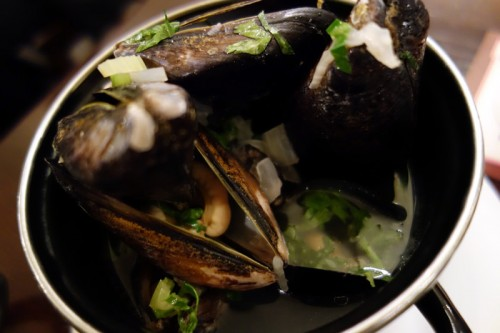 ムール貝のキャセロール蒸