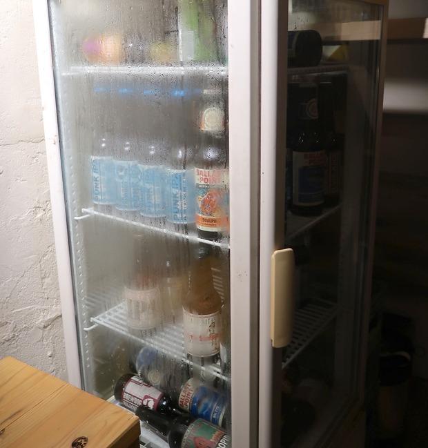 ビールの冷蔵庫