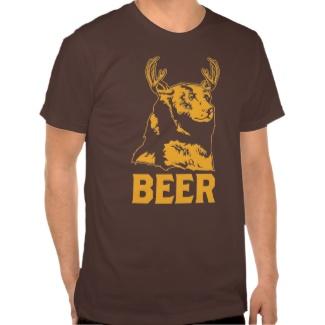 くま + シカ=ビール TEE シャツ