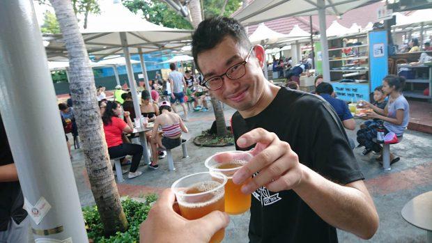 ツトムさんと乾杯!