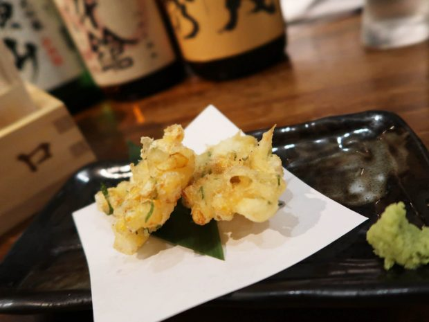 もろこしと山芋のかき揚げ(480円)