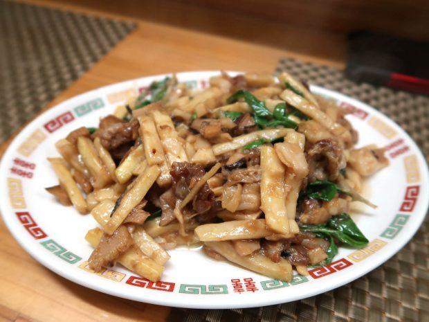 竹の子と肉の炒め(700円)