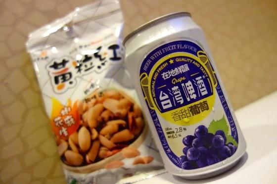 ぶどうの台湾啤酒