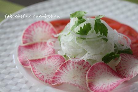 ■新たまねぎでサラダ