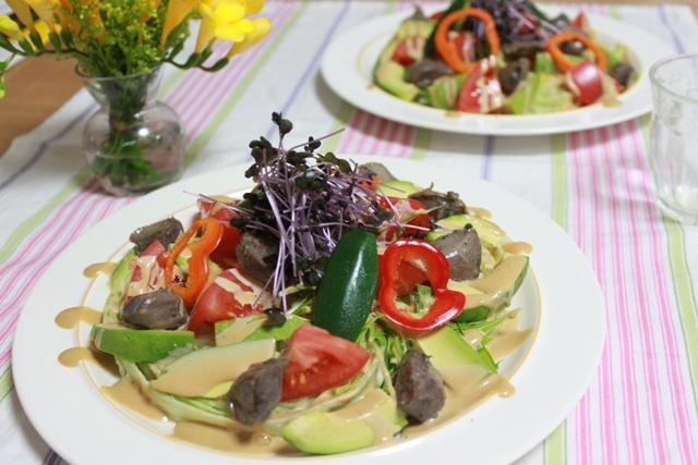 砂肝のコンフィ サラダ