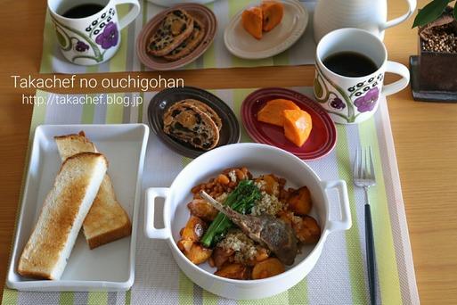朝ごはん 食材処理  ~キヌアとポークビーンズのホットサラダ~