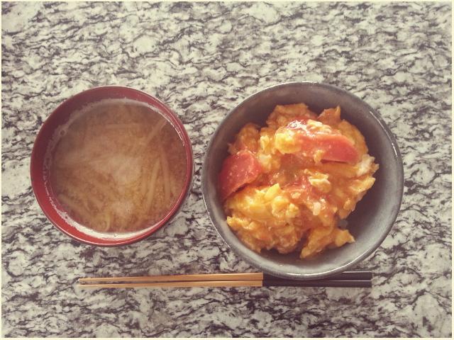 ■一人朝ごはん