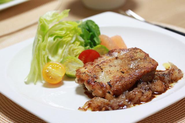 ■鶏肉のソテー グレープフルーツとバルサミコのソース ~チャレンジDay14~