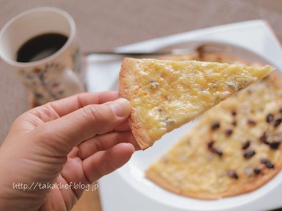【朝ごはん】チーズピザ