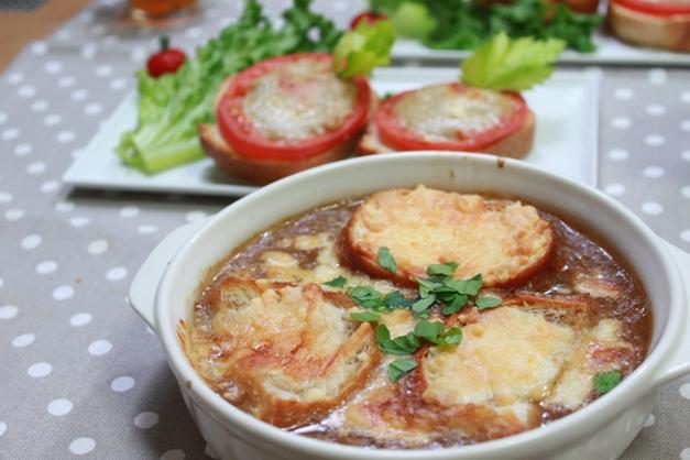 ■オニオンとジャガイモのグラタンスープ