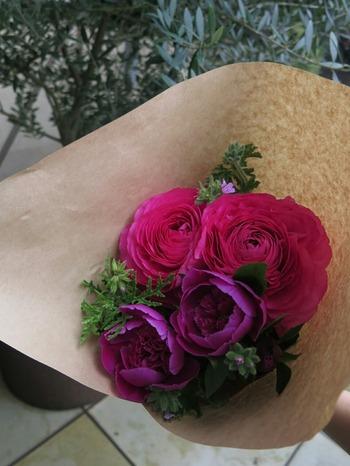 明け!!  お花を買いに行く