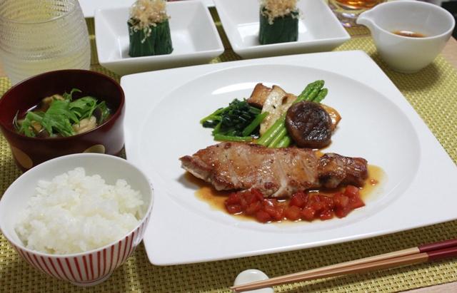 ■豚肉のソテー ぽん酢バターソース