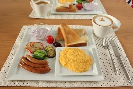 ■スクランブルエッグで朝ごはん