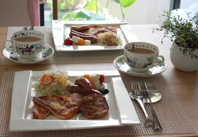 ■フレンチトーストで朝ごはん。