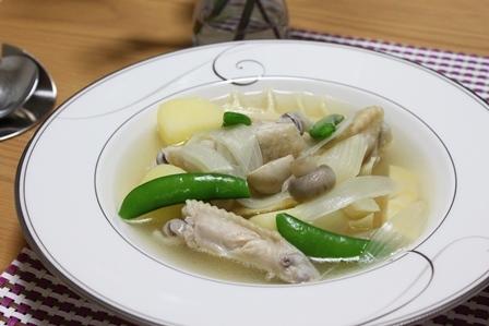 ■鶏肉と筍のスープ
