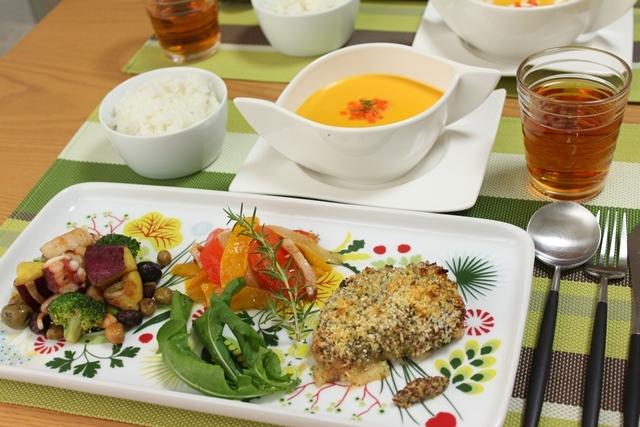 ■鶏肉の香草パン粉焼きで晩ごはん。
