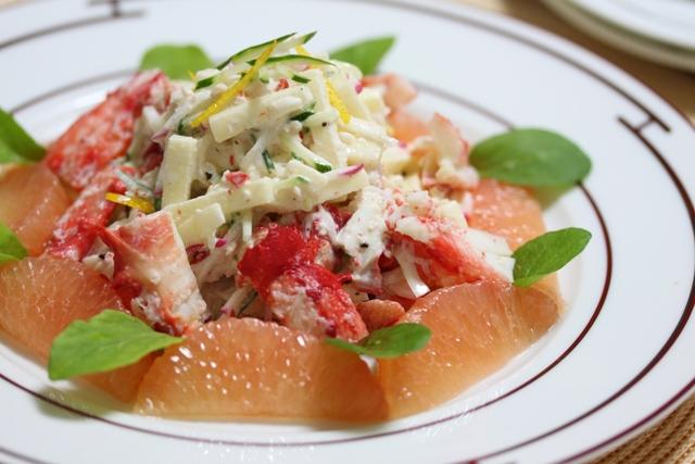 ■グレープフルーツと林檎の蟹サラダ。  ~フロリダグレープフルーツ30日チャレンジ Day4~
