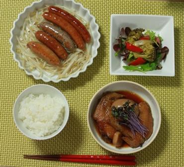 手羽先と茹で卵のすっぱ煮   ~茶色い晩御飯~