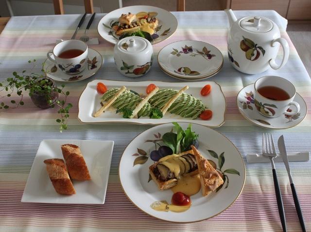 ■シイタケのパイで朝ごはん。