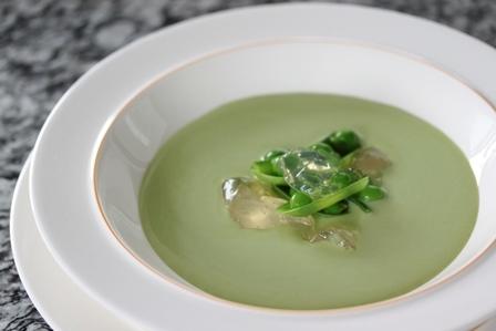 【料理】グリンピースのスープ
