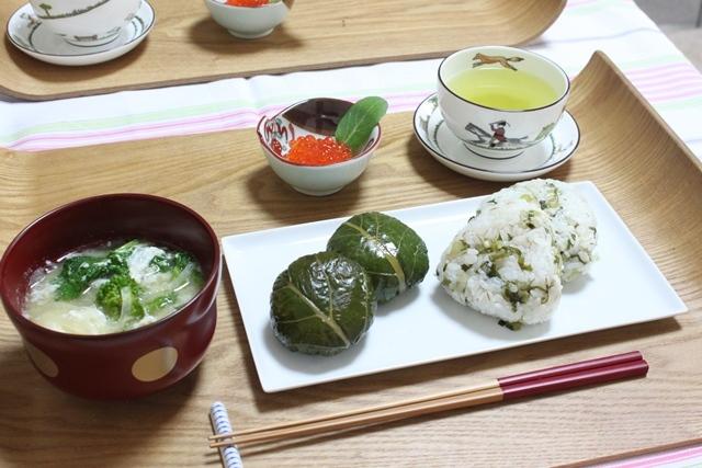 ■野沢菜のおにぎり
