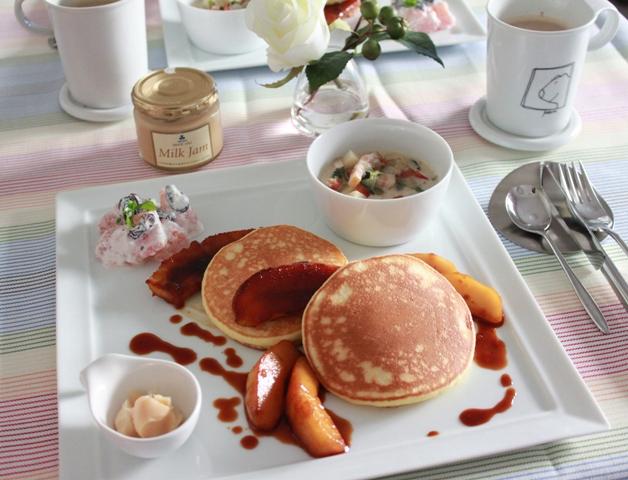 ■リコッタパンケーキの朝ごはん。だが~~~  と フロリダグレープフルーツDay2
