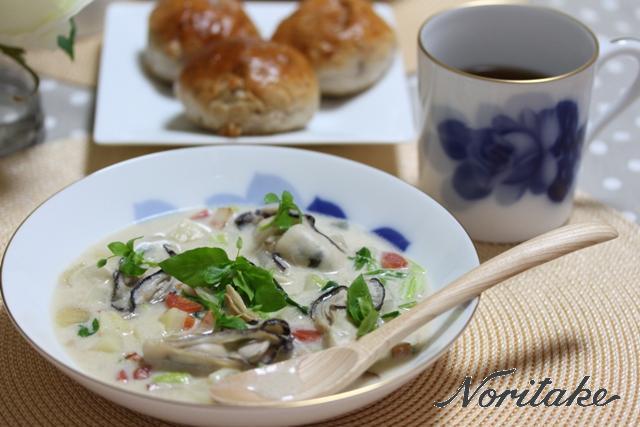 ■牡蠣と七草のチャウダー