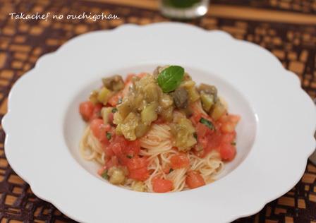 ■焼きナスとトマトのカペリーニ